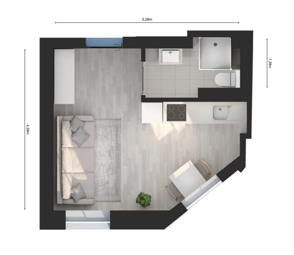 Lodz Studio flat